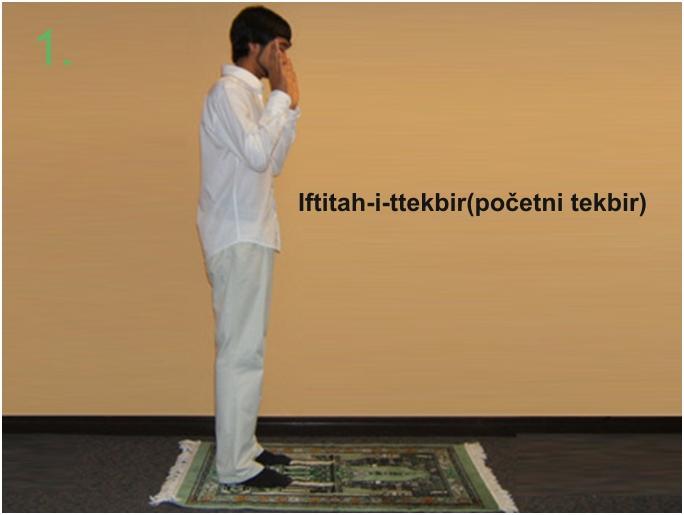 namaz01 Kako klanjati namaz u slikama  Iftitah-i -ttekbir ( početni tekbir )