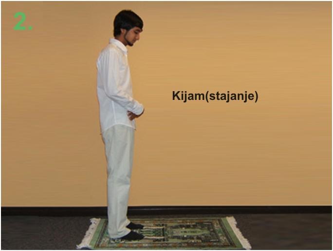 namaz02 Kako klanjati namaz u slikama  Kijam ( stajanje u namazu )